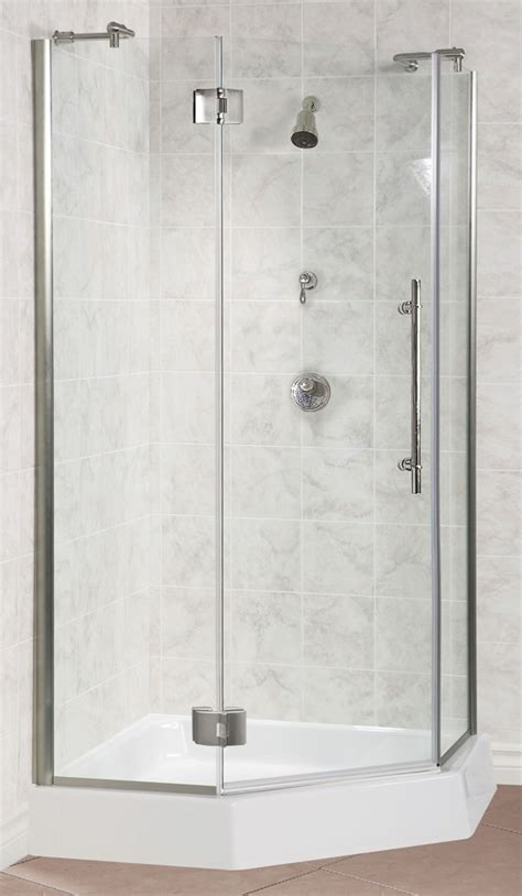 Angle Shower mti neo angle shower pans or shower base with seat