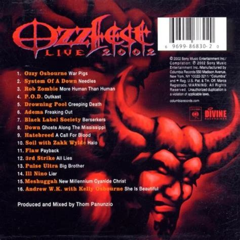 system of a best of album system of a album 171 ozzfest 2002 live album 187