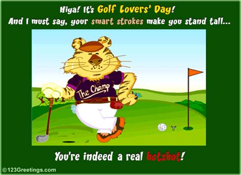 free printable golf greeting cards golf lovers day free golf lovers day ecards greeting