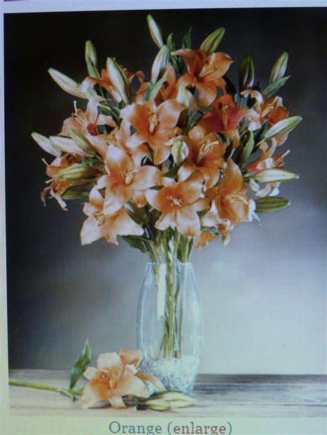 tiger centerpieces orange tiger lilies centerpieces or change to silk