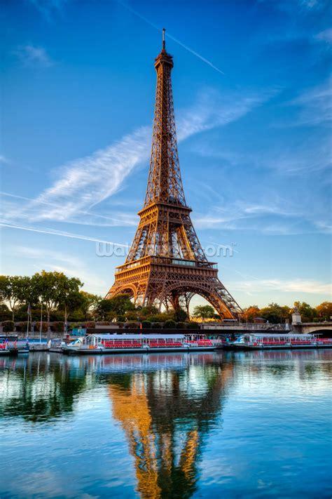 Eiffel Tower Wall Mural eiffel tower reflection wallpaper wall mural wallsauce