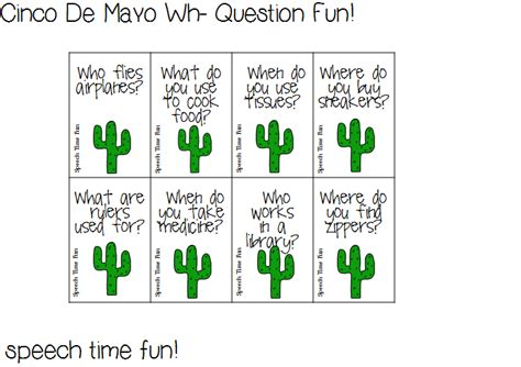 Or Questions Cards Reading Comprehension Stories Cinco De Mayo Wh Question