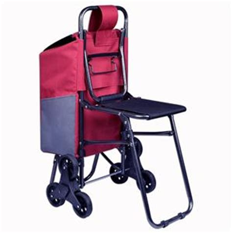 Stair Climbing Chair by New Stair Climbing Rolling Shopping Folding Grocery