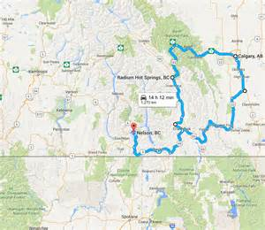 road map of columbia canada nelson to calgary a rockies road trip explore bcexplore bc