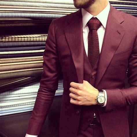 burgundy suit ideas  pinterest burgandy suit