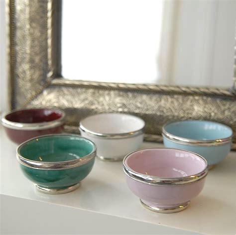 Handmade Bowls - five small handmade bowls casablanca by skoura