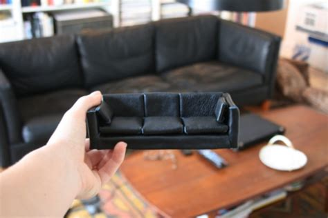 how to sew a leather couch diy miniature furniture brinja