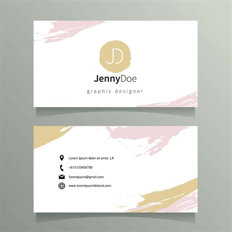 Grafic Artist Business Cards Templates Free by Graphic Designer Name Card Template Free Vector