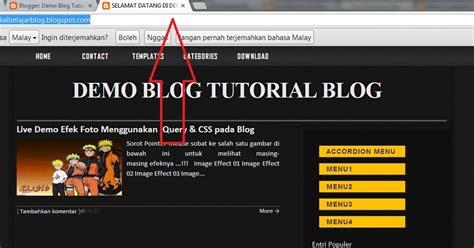 html tutorial for blogger cara membuat tulisan addres bar lebih menarik tutorial
