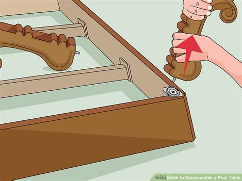 how to take apart a pool table how to disassemble a pool table 11 steps with pictures