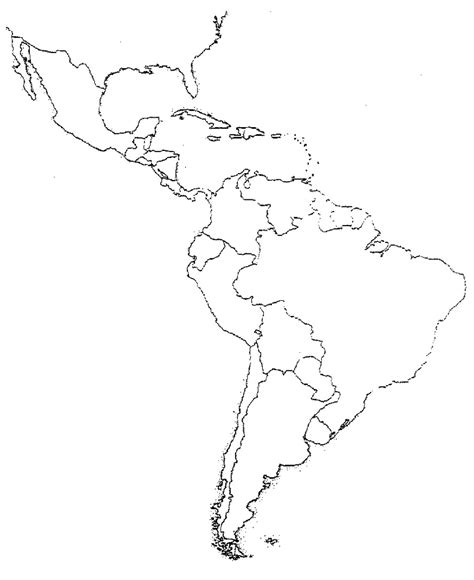 Latin America Blank Map by Blank Latin America Map Quiz Social Studies Pinterest