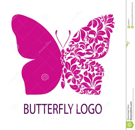 purple butterfly logo stock illustration image 62836611