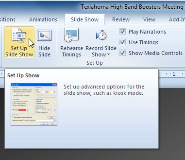 how to change windows photo viewer slideshow interval powerpoint 2010 presenting slide show page 4