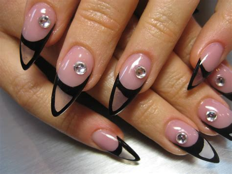 easy unique nails unique clear acrylic aquarium pointy nail design by orange