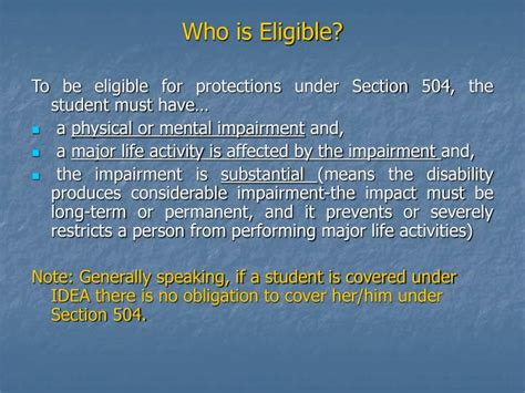 what is a section 504 ppt what is section 504 powerpoint presentation id
