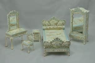 dollhouse bedroom set bespaq dollhouse miniature bedroom furniture set bed armoire vanity limited ebay