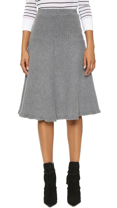 knit skirt joa knit skirt in gray grey lyst