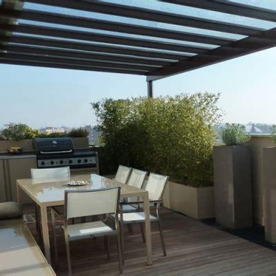progettazione terrazzi terrazzo con copertura in vetro 40 mq