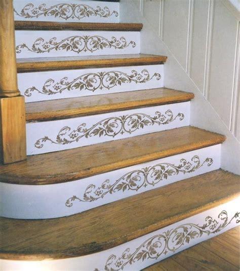 Stair Riser Decor reusable stencil westbury stair riser by cuttingedgestencils
