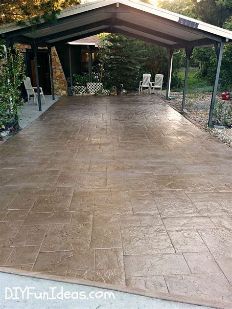 How To Make A Cement Patio by Gorgeous Diy Sted Concrete Tile Driveway For Less