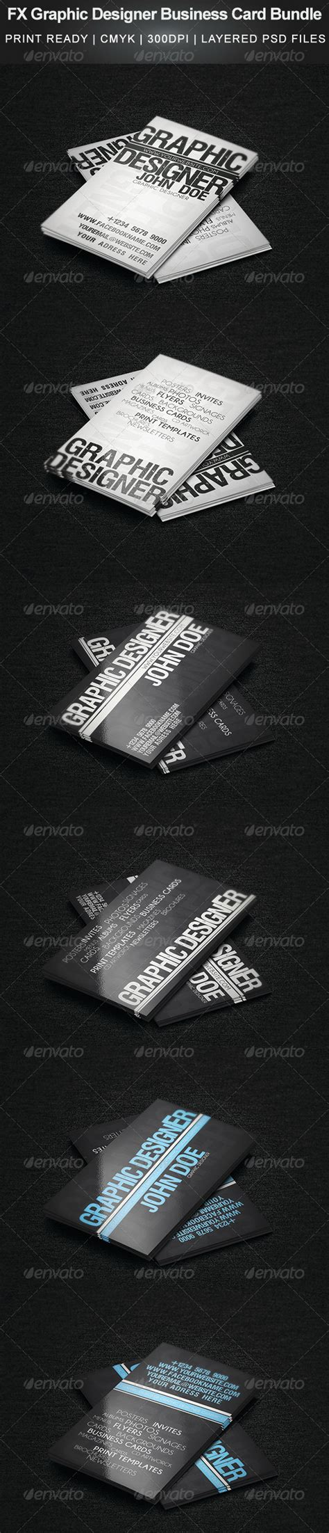 great fx business card template fx graphic designer business card bundle graphicriver