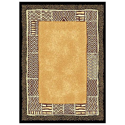 print rugs 5x8 donnieann 174 animal print area rug 215380 rugs at sportsman s guide