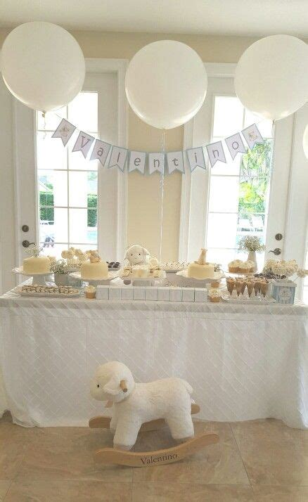 White Baby Shower Ideas by White Baby Shower Caro S Babyshower