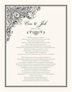 Indian Wedding Prayer Wedding Certificate Paisley Power Indian Wedding Blessing Apache Wedding Prayer Documents