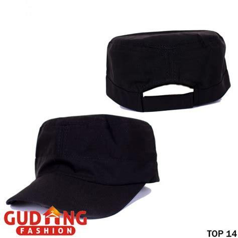 Topi Komando Polos Topi Komando Artis topi komando polos katun twill hitam top 14 gudang fashion