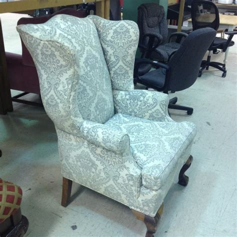 Wing Armchair by Vintage Wing Back Chair Thrift Score Thrift Diving