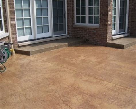 stained concrete patio home design ideas pictures