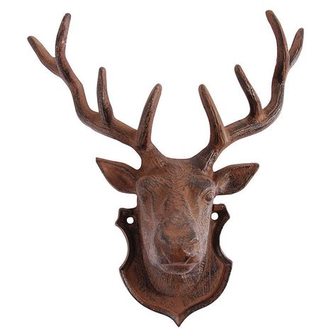 deer decoration deer wall decoration with antlers by dibor