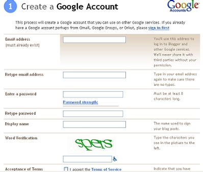blogger sign in google account how to start a free blog at blogger com picture pages