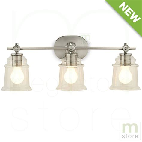 Bathroom Vanity Light Fixtures Brushed Nickel by Bathroom Vanity 3 Light Fixture Brushed Nickel Bell Wall
