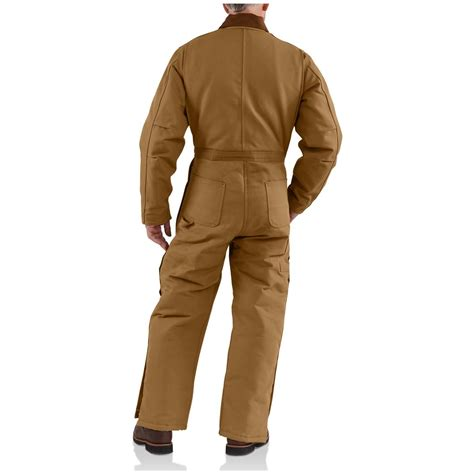 Carhartt Quilt Lined Duck Coveralls by Carhartt 174 Arctic Quilt Lined Duck Coveralls Brown