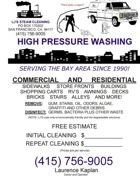 Power Washing Flyer Templates Free