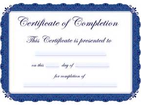 free templates for certificates of completion 7 best images of printable certificates of completion