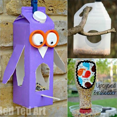 things made out of recycled materials diy recycled bird feeders recycled things