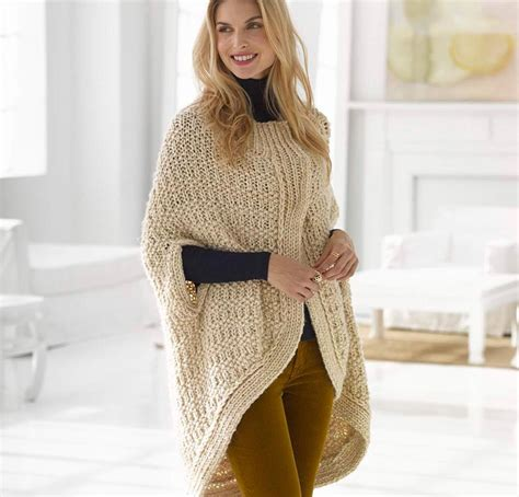 knit cape knit a trendy cape or poncho for winter fashion