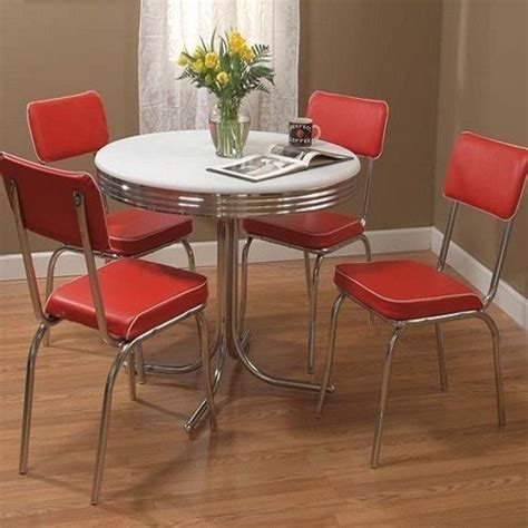 retro chrome kitchen table retro dining set 5 chrome kitchen table chairs vintage dinette ebay