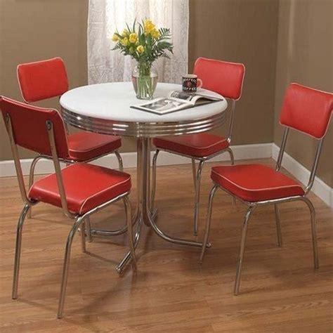 retro kitchen furniture retro dining set 5 chrome kitchen table chairs vintage dinette ebay