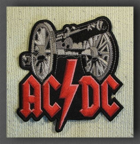 Patch Iron On Patch Patches Bordiran Kaos Acdc Large Iron On Sew On Patch Rock Ebay
