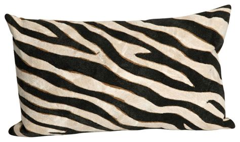 Outdoor Zebra Cushions Zebra Black 12 Quot X 20 Quot Indoor Outdoor Pillow Contemporary