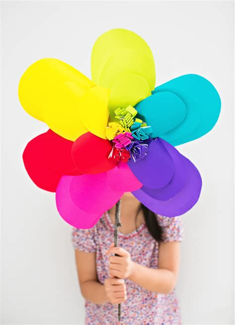 How To Make Rainbow With Paper - rainbow paper flower family crafts