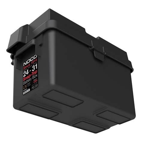 boat battery box with charger noco group 24 31 snap top battery box hm318bks