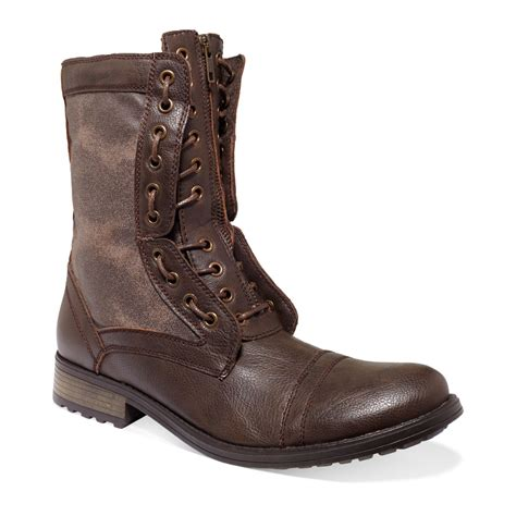 madden boots brown steve madden mens shoes listen zip boots in brown for