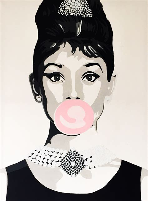 audrey hepburn painting acryl on canvas popart made by