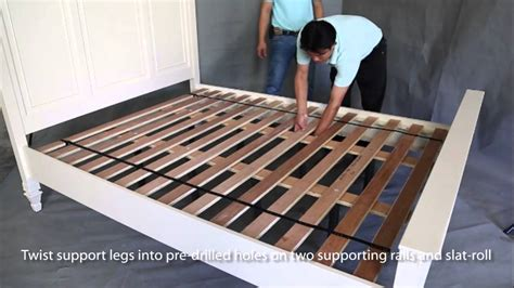 assembling a bed frame with slats frameswalls org