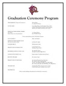 Graduation Ceremony Program Template by Graduation Program Template Beepmunk