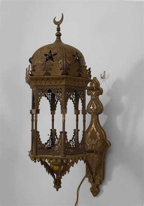 middle eastern style lighting middle eastern moorish syrian lighting sconces brass